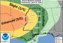 Mississippi Delta at risk of severe storms on Wednesday with tornadoes possible