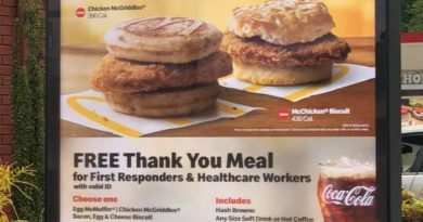 McDonalds offering free meals to healthcare workers and first responders